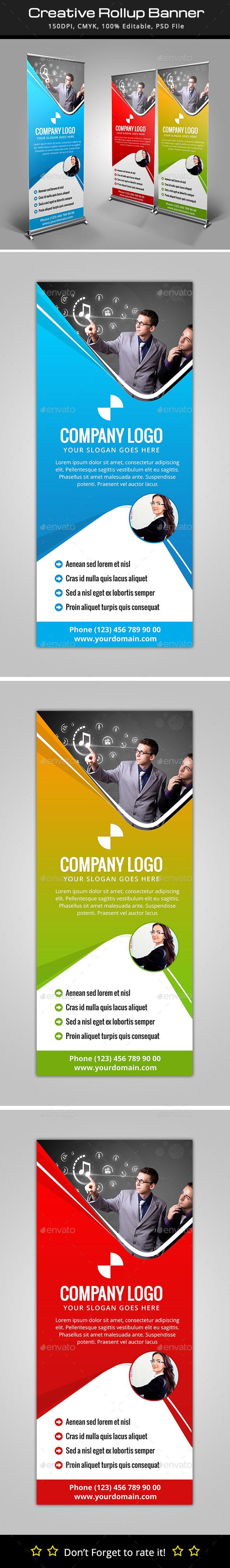 Design banner template - Creative Roll Up Banner