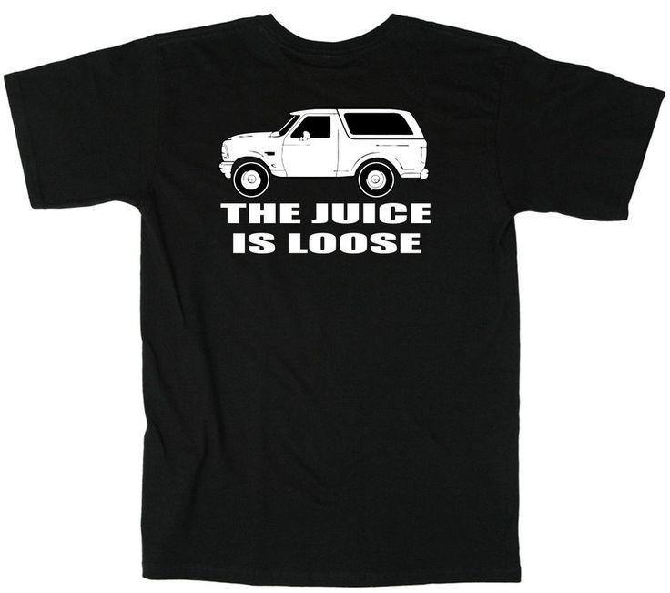 "OJ Simpson White Bronco ""Juice is Loose"" T-Shirt TODDLER 4T. Stylish shirt!."