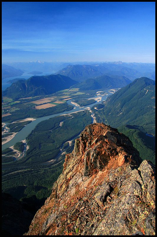 View of the Fraser Valley, Chilliwack, British Columbia, Canada