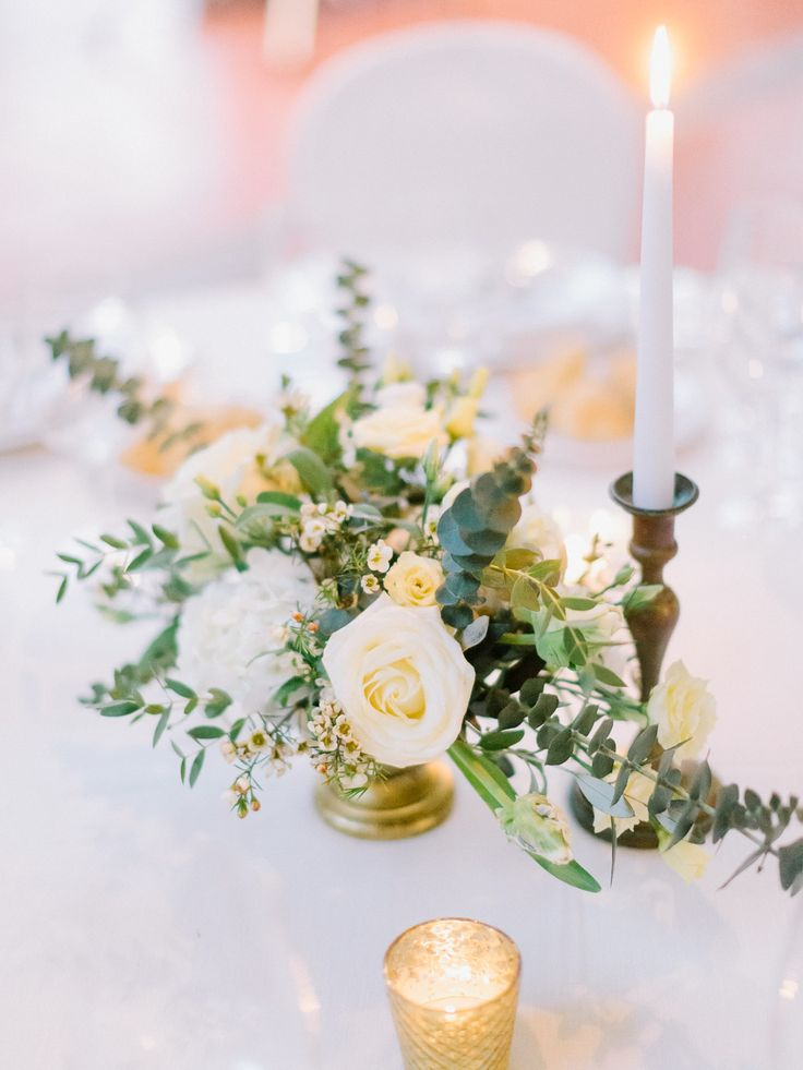 Centrepiece with element gold.