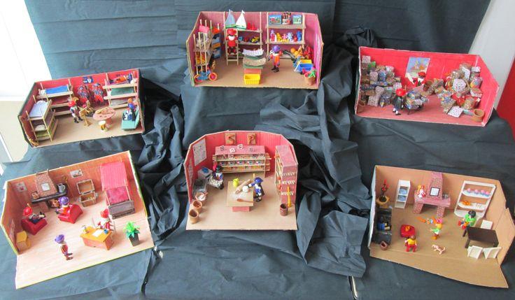 Sinterklaas 01 verteltafelkamers Nutsschool Maastricht. Gemaakt met playmobil.