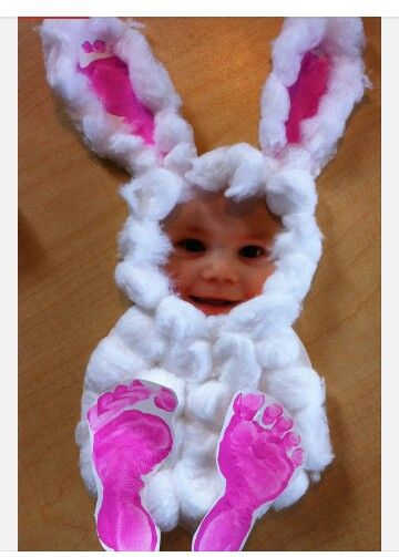 Easter craft - cute idea for toddlers! easter bunny