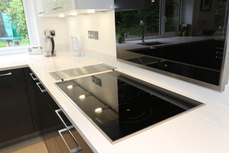 sleek glass induction hob