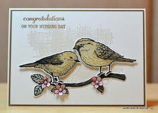 JanB Handmade Cards Atelier: More Best Birds ... realistic look ... two birds on a branch ...  Stampin' Up!