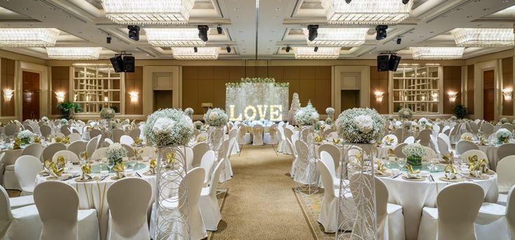 Conrad Centennial Singapore Opulent Interiors Wedding Aisle Decorations Venue Decor