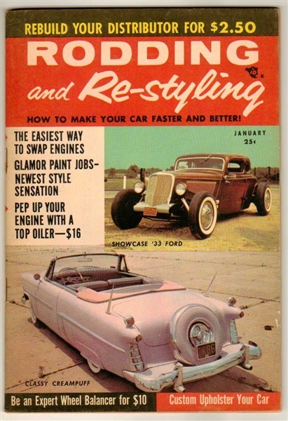 Rodding And Re Styling Jan 1957 Old Vintage Custom Car
