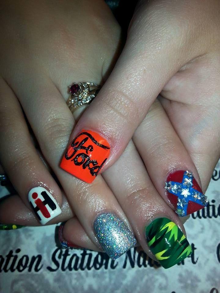 country girl camo nail