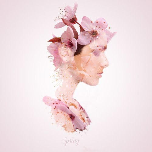 Ethereal Double Exposure Shots That Blend Women And Seasons - DesignTAXI.com
