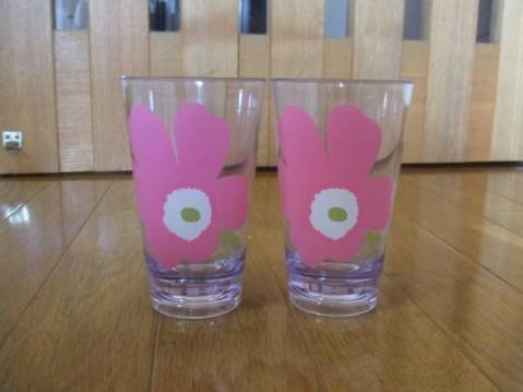 marimekko マリメッコ プラスチック グラス 2個