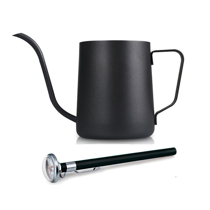 350ml / 12Oz Stainless Steel Pour Over Drip Kettle Long Narrow Spout Coffee Pot with a Thermometer >>> Learn more by visiting the image link.