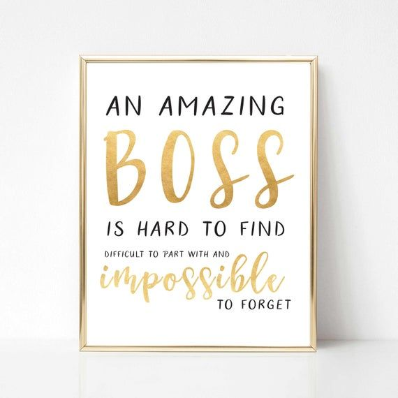Digital Boss Quote Gift Best Boss Quote Gift Boss Etsy Boss Birthday Quotes Best Boss Quotes Boss Day Quotes