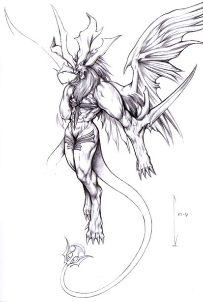 FF8 Griever - official final fantasy art from FF 25 Ultimania