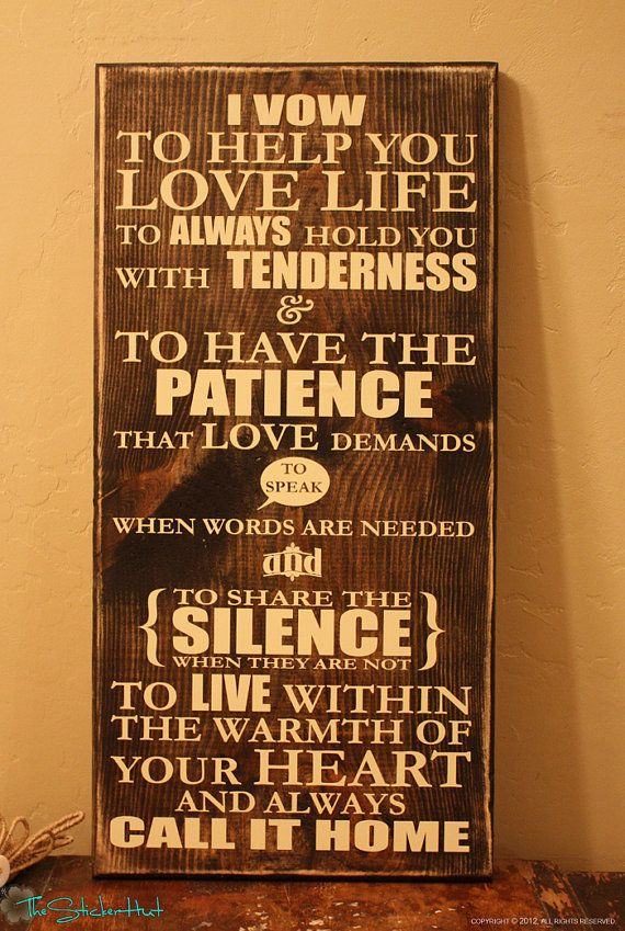 I Vow To Help You Love Life Quote Saying Distressed Wooden Sign on Etsy, $45.00