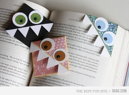 Cool Page Corner Bookmarks: Gift, Corner Bookmarks, Art, Diy, Craft Ideas, Crafts, Kid