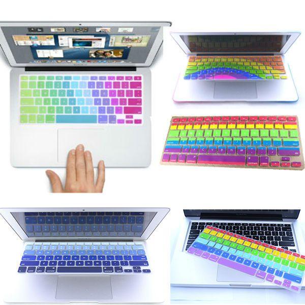 Дешевое Новые радуга клавиатура протектор кожного покрова для MacBook Pro 13 15 сетчатки и 13, Купить Качество Чехлы для клавиатур непосредственно из китайских фирмах-поставщиках: новейшие радуги клавиатуры протектор покрытие наклейки коёи для macbook pro 13 15 образный air 13 сетчатки   &nbsp