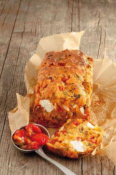 Rezept - Spinat-Ziegenkäse-Kuchen mit Tomaten-Paprika-Relish