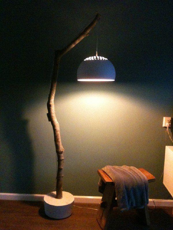 nature lamp bobeen schitterende boomstam omgebouwd tot exclusieve lamp ...