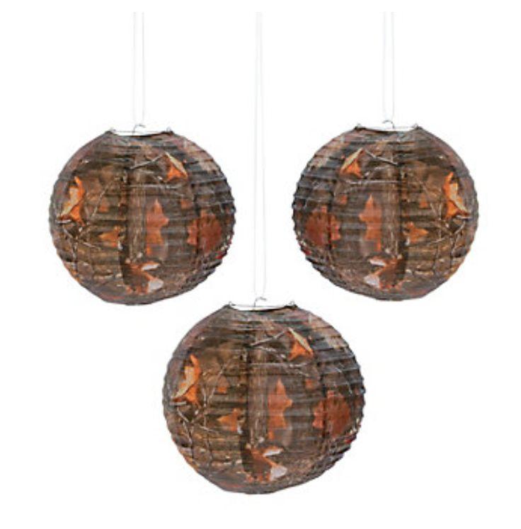 Camo Paper Lantern Decorations