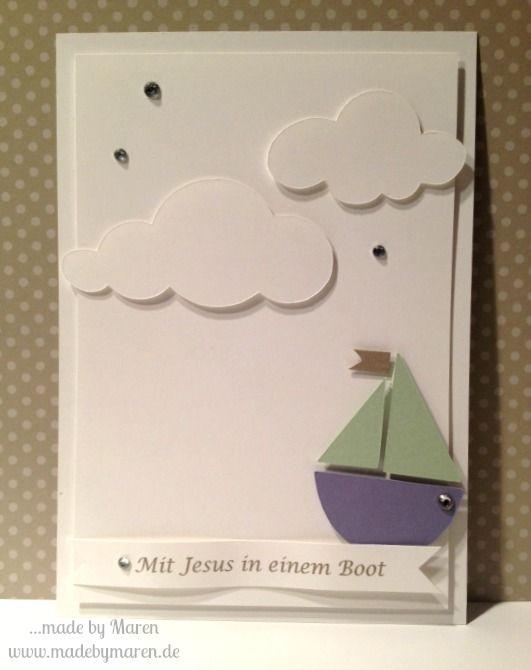 Stampin Up, Silhouette Cameo, Kommunion, Mit Jesus in einem Boot
