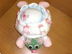 Voorbeeld kraamcadeau: Luier-schildpad