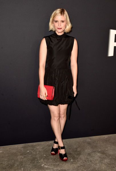 Actress Kate Mara attends the premiere of 'Past Forward', a movie by David O. Russell presented by Prada on November 15, 2016 at Hauser Wirth Schimmel Gallery in Los Angeles, California.
