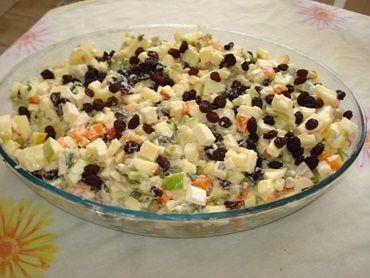 Salada de legumes com maçã
