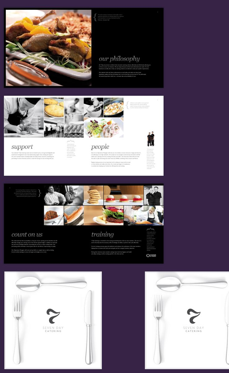 7 Day Catering Brochure Design