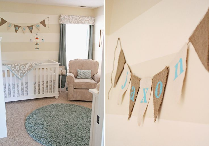 beige and aqua nursery. I love aqua/teal right now. This would be fun for baby 2 someday.