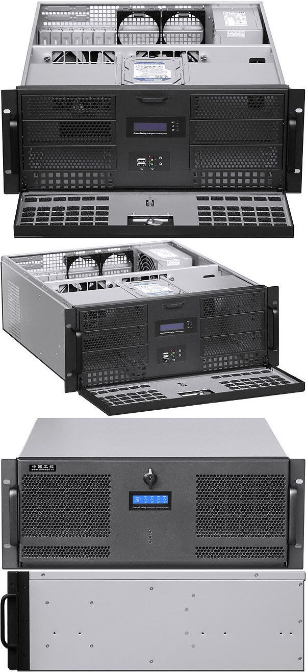 Rackmount Cases And Chassis 64061 4u Rail24 F Lcd 6x5 25 8x3 5 Bay Rackmount Chassis Atx Itx D 20 08 Case New Buy It Now Only 154 95 On Atx Case Lcd