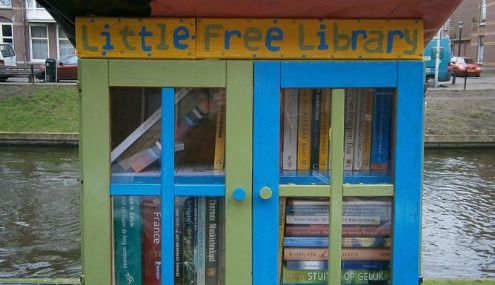 little free libraries in the netherlands - Everywhere in the Netherlands you can see brightly painted little bookcases popping up with books local neighbourhood residents can borrow for free.