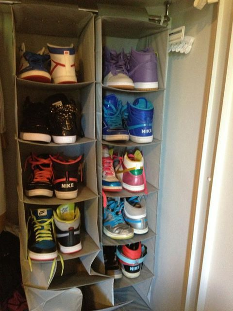 And now we have the Nike Hi tops , even more fun arranging the shoes