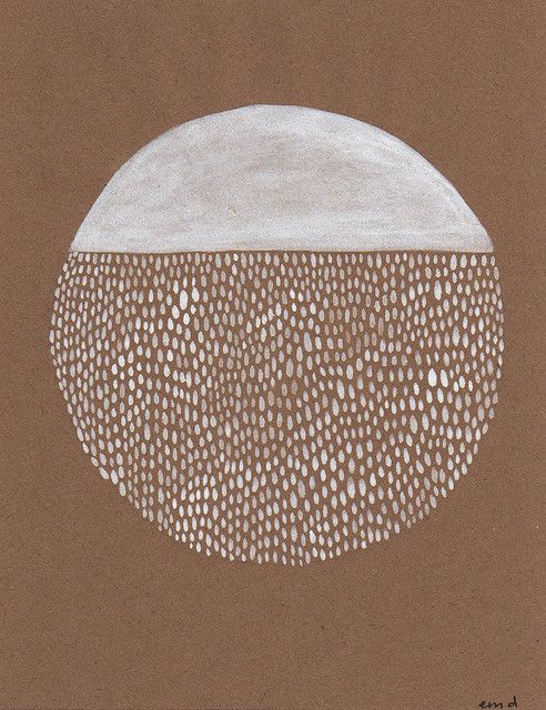 This circle by Erin Dollar reminds us about how repetitive process and simplicity can create beautiful results.