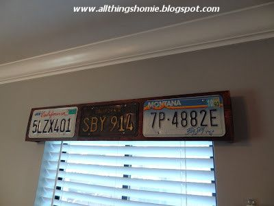 License Plate Valances.. Spring project for the garage!