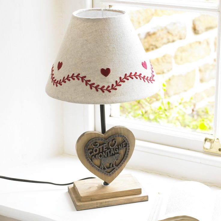 Hearts border cote montagne lamp · french country lightingheartsheart