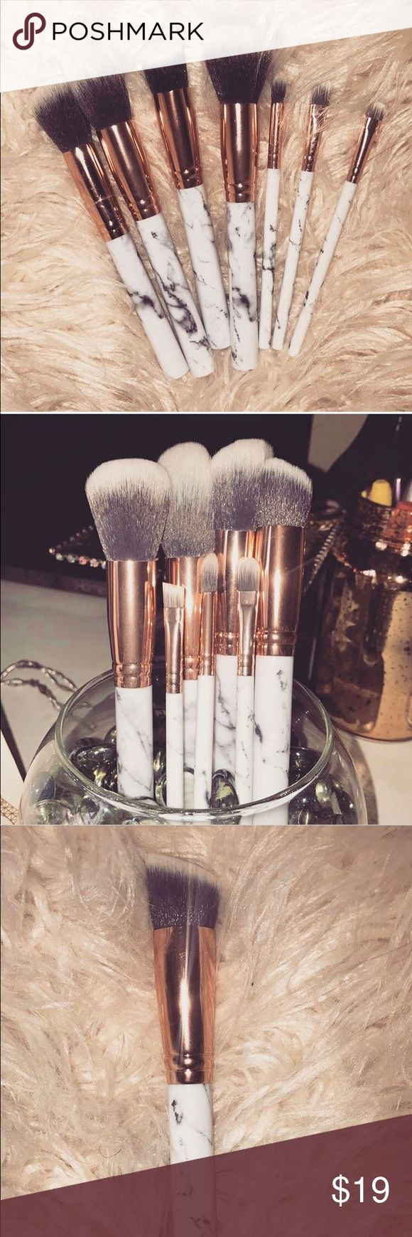 7 pc/set marbling makeup brushes cosmetics kit -Perfect for use and eye candy de…