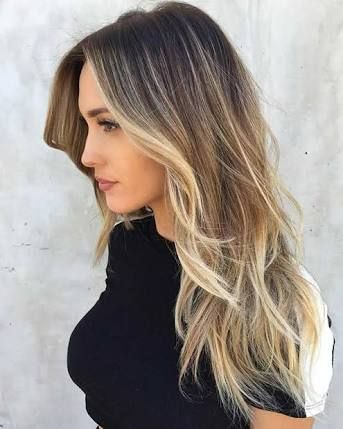Resultado de imagen para brown hair with few blonde highlights #thinninghairwomen