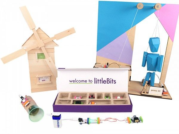 littleBits Electronics Kits Starting at $99.95  Fun and engaging electronics kits that let you get hands on with circuits and everyday materials. Kits come with color-coded Bits modules that snap together with magnets to create larger circuits.