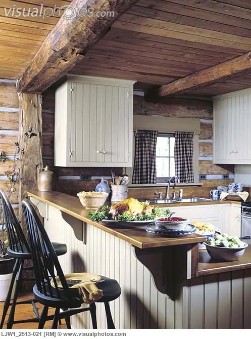 Small Country Kitchens Like This Cabin Kitchen A Log Ideas In 2018 Pinterest And