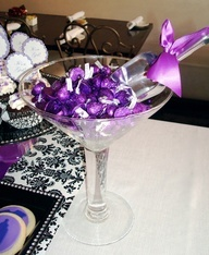 purple bridal shower decorations - Google Search [more at pinterest.com/eventsbygab]