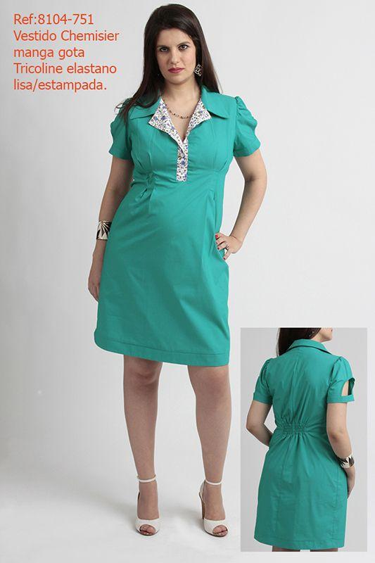 Catálogo Primavera-Verão 2014 - Vestidos Curtos - Vestido anos 60s com passantes - Akaxa Gestante - Moda Gestante