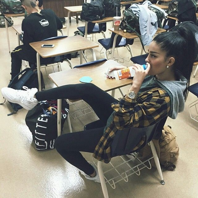 Dope girl swag in class
