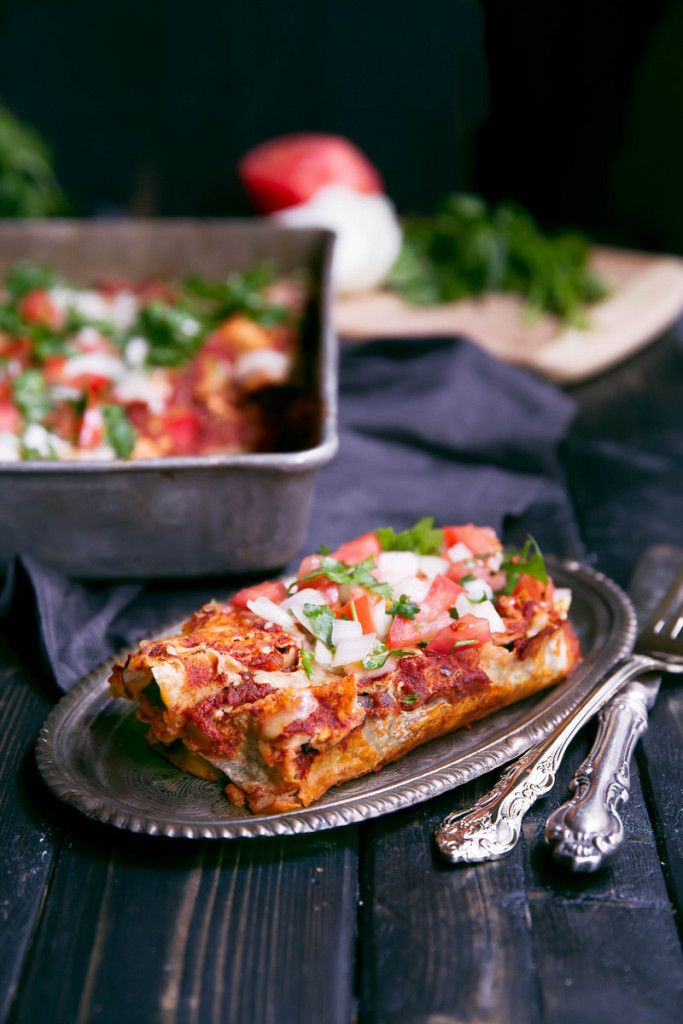 chicken and refried bean enchiladas recipe