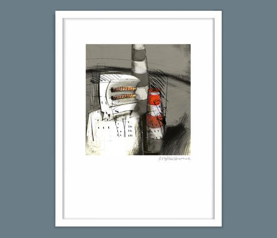 Modern Art Prints Rogerio de Andrade by owlingsouthafrica on Etsy