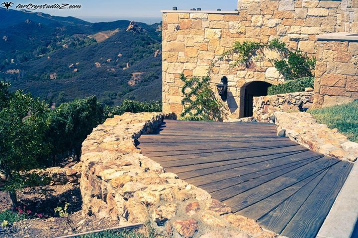 Malibu Rocky Oaks provided wine club members private tasting events. One of only ways to see in person this multi million property and vineyard. Path to a wonderland of vines. Unknown path. MROwineclub@gmail.com
