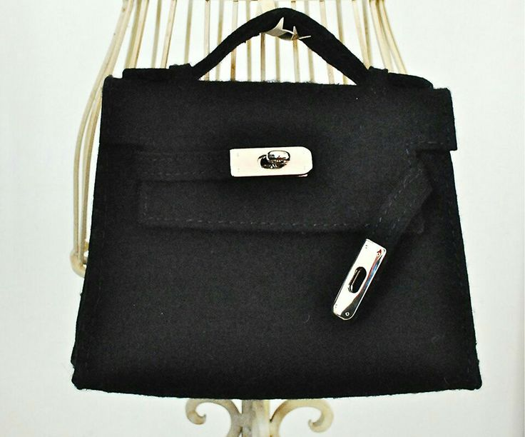 Hermes Kelly inspiration  Handmade from wool felt