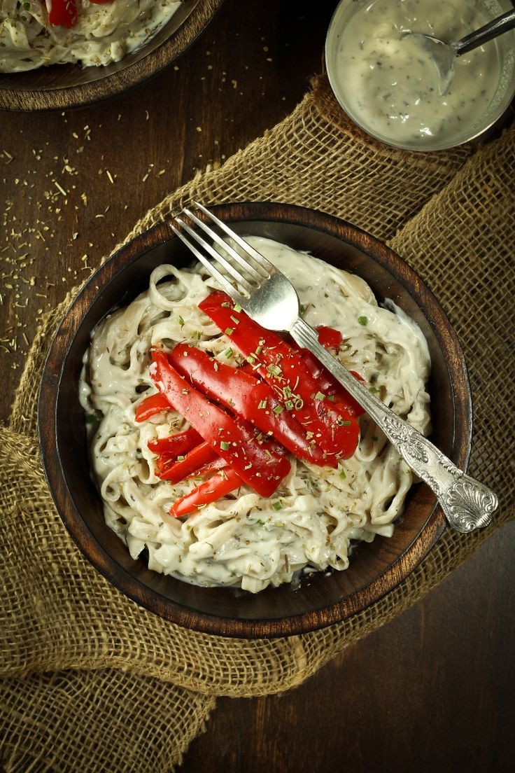 Creamy White Wine Sauce With Peppers And Pasta Recipe Delicious Vegan Recipes Vegan Wine Stuffed Peppers
