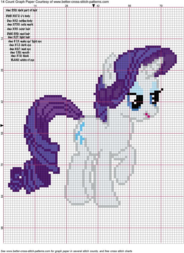 Rarity Cross Stitch Pattern by *AgentLiri on deviantART