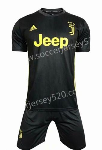 2018-19 Juventus 2nd Away Dark Gray Soccer Uniform  7fc8cbed2
