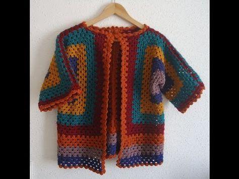 Tutorial Crochet Chaqueta ganchillo paso a paso en español, My Crafts and DIY Projects