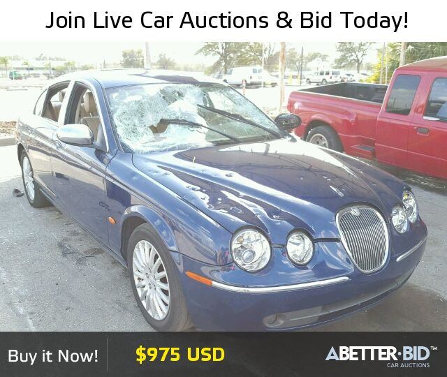 Orlando Used Cars For Sale: Salvage 2005 JAGUAR S-TYPE For Sale